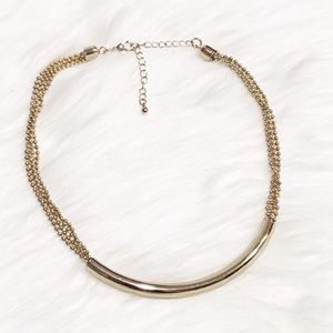 Express Gold Chain Tube Necklace